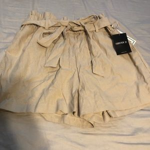 Brand new beige shorts with tags!
